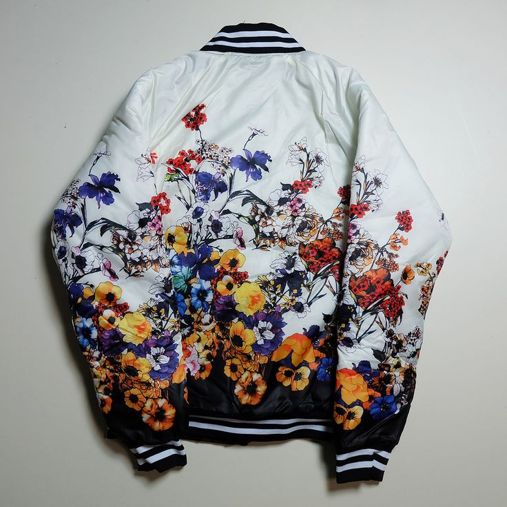 Cute Kawaii Floral Flowers Garden Birds A la Versace Souvenir Sukajan Jacket Jumper - Japan Lover Me Store