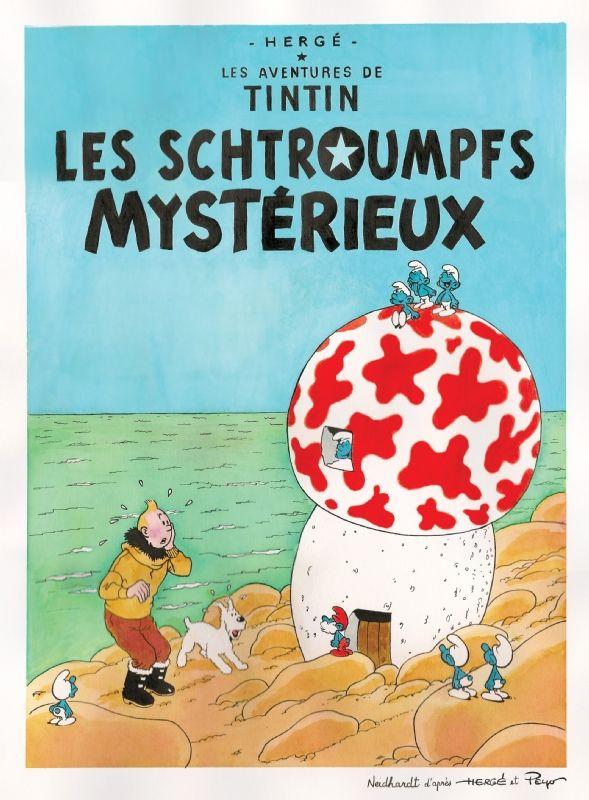 Les Aventures de Tintin - Album Imaginaire - Les Schtroumpfs Mystérieux