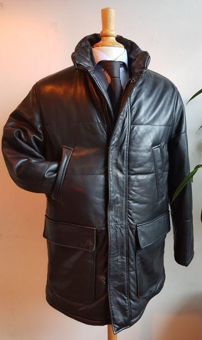 fd30b73b4ef Nu in de #Catawiki veilingen: Hugo Boss - lamsleren jas - Leren jas ...