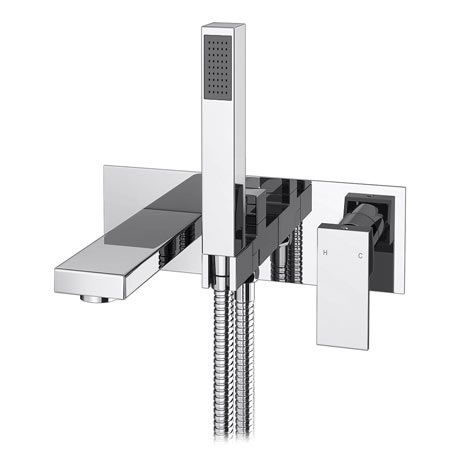 Cast Wall Mounted Bath Shower Mixer Tap + Shower Kit £99
