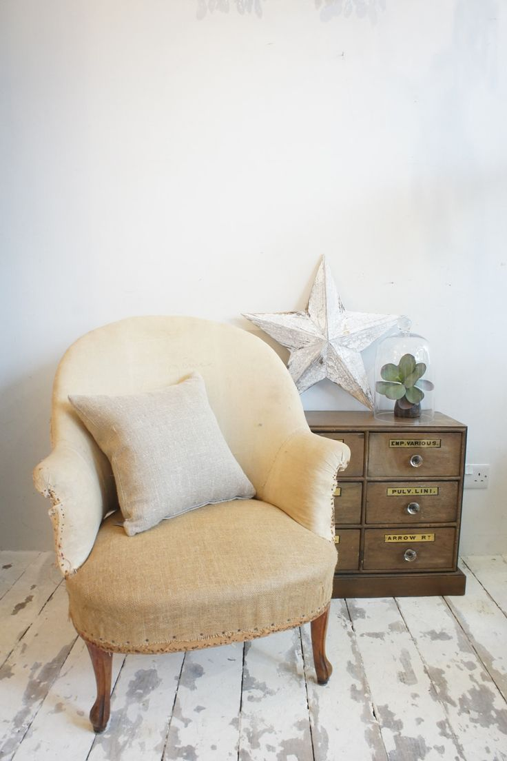 Antique deconstructed French armchair