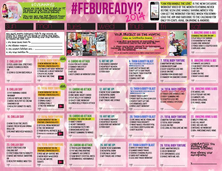 blogilates workout calendar // February 2014 // fitness ...