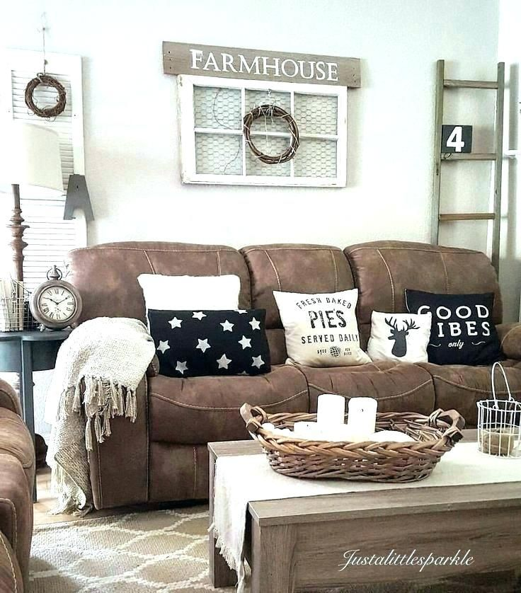 Brown Couch Decorating Ideas Rethinkihorg Brown Couch Living Room Decor Livin In 2020 Living Room Decor Rustic Farmhouse Decor Living Room Brown Couch Living Room