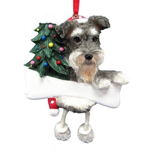 "- Great item for any dog lovers during the holiday gift exchange season. - Hand painted stone resin. - These make adorable holiday additions to a Christmas tree or mantel. - The name plate can be ""per"