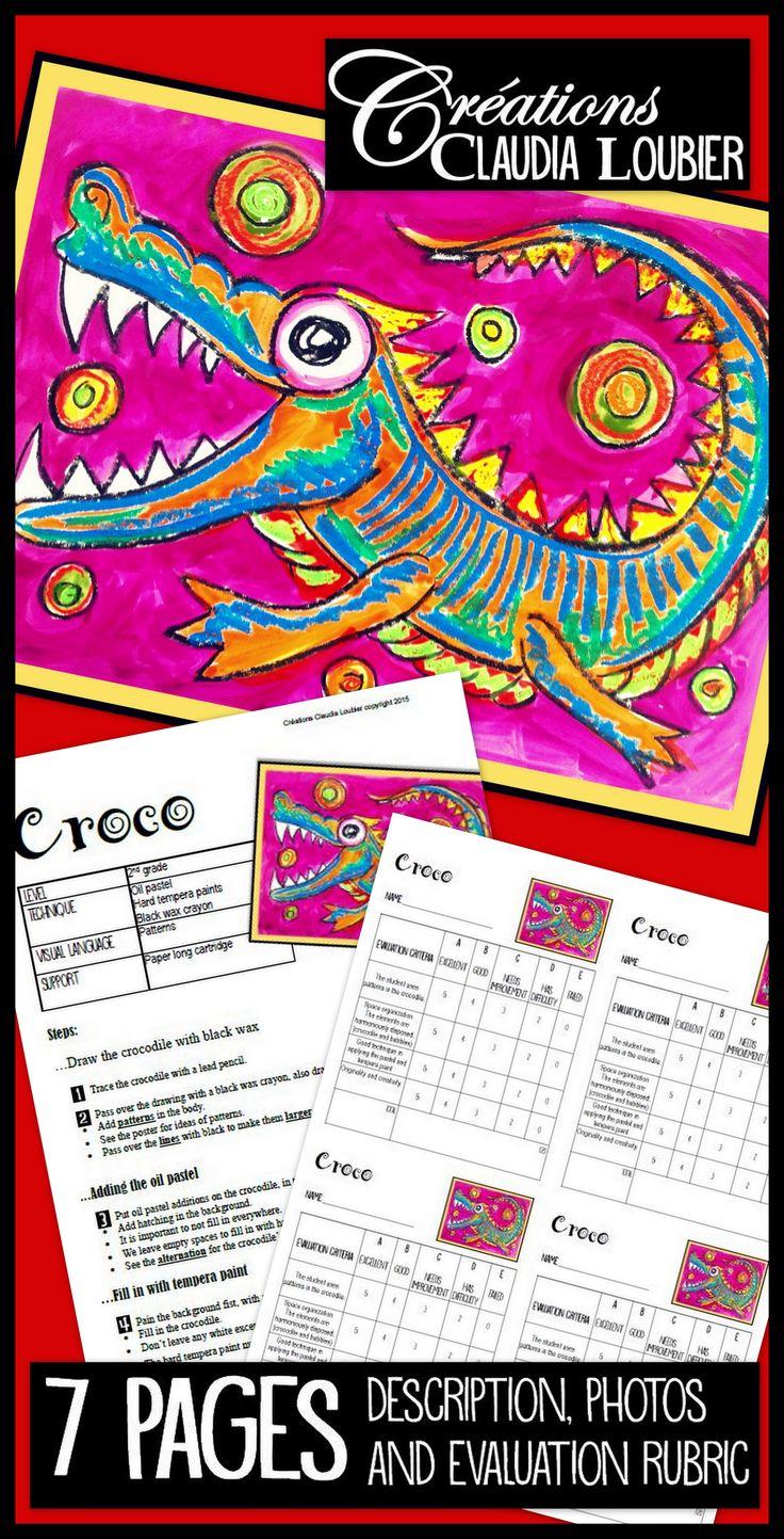 https://www.teacherspayteachers.com/Product/Art-Project-Croco-2209099