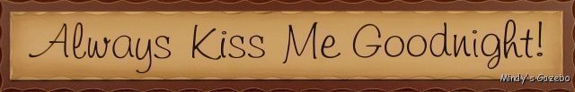 Red Primitive wood sign ALWAYS KISS ME GOODNIGHT Rustic Country Home wall Decor