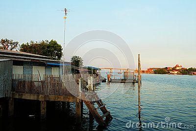 Beside Beach Life Village. Bang Ta Boon Estuary, Phetchaburi, Thailand.  ^__^