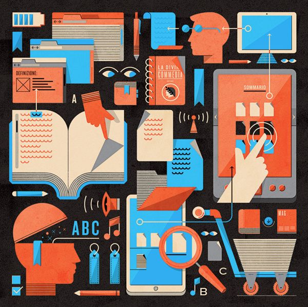 Editorial Illustrations 2012 by Andrea Manzati, via Behance