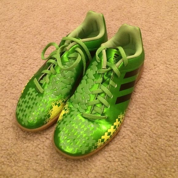 Adidas youth indoor soccer shoes size 4 1/2 Adidas youth indoor soccer shoes size 4 1/2.  Worn for one game.  :( Adidas Shoes Athletic Shoes