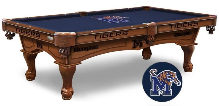The Memphis Tigers Pool Table is available in an 8-ft length. Wood cabinet has CNC and laser cut logos. Available in two finishes. Free installation. Visit SportsFansPlus.com for Details.
