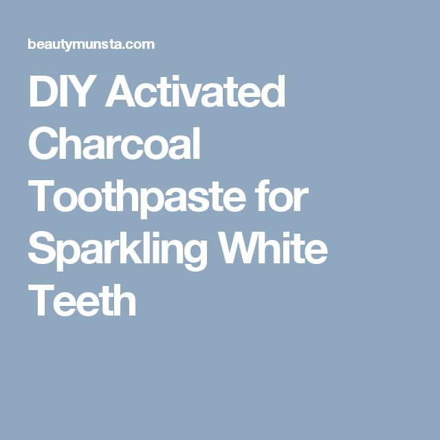 DIY Activated Charcoal Toothpaste for Sparkling White Teeth