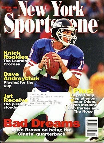 New York Sportsscene December 1996- Dave Brown New York Giants Cover