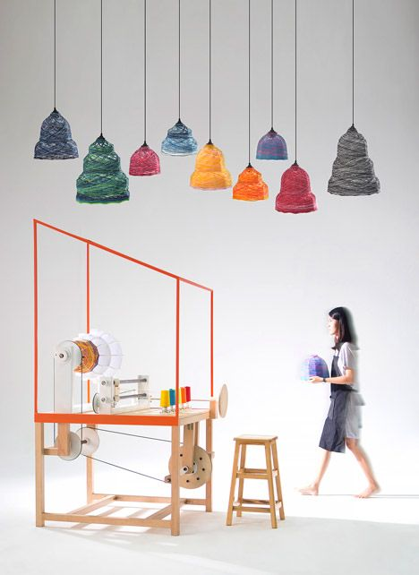 Lanna Factory machine by THINKK Studio produces customisable lampshades