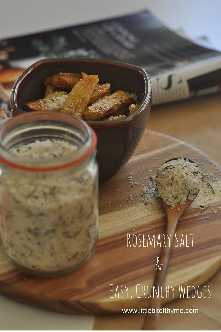 Recipe :: Rosemary Salt and Wedgies.. or should that be Wedges?