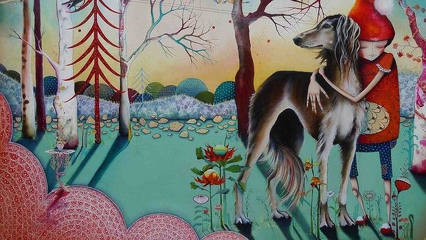 WA artist Yvonne Zago: Theo and Lady. I love the detail and imagination in her work.