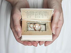 Делаем подушечку для обручальных колец из карманного словаря | Ярмарка Мастеров - ручная работа, handmade