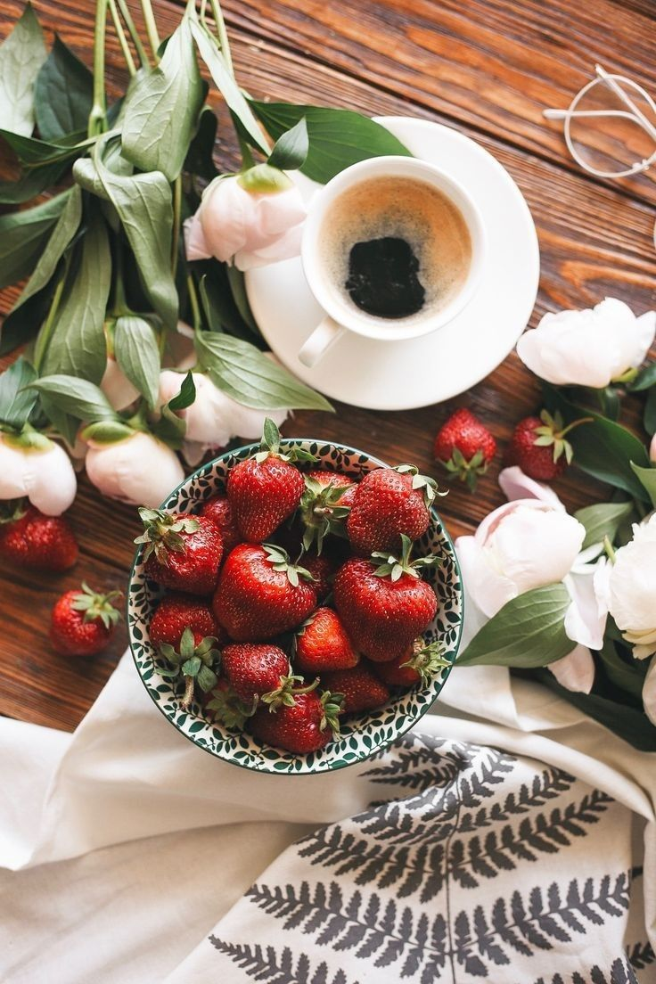 Pin By Pinainitisart Nune On Sweet Floral Breakfast Tea Spiced Fruit Good Morning Coffee