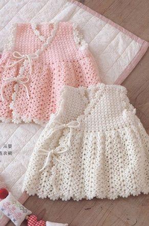 Vestido de bebê Crochet - TUTORIAL, GRAFICOS