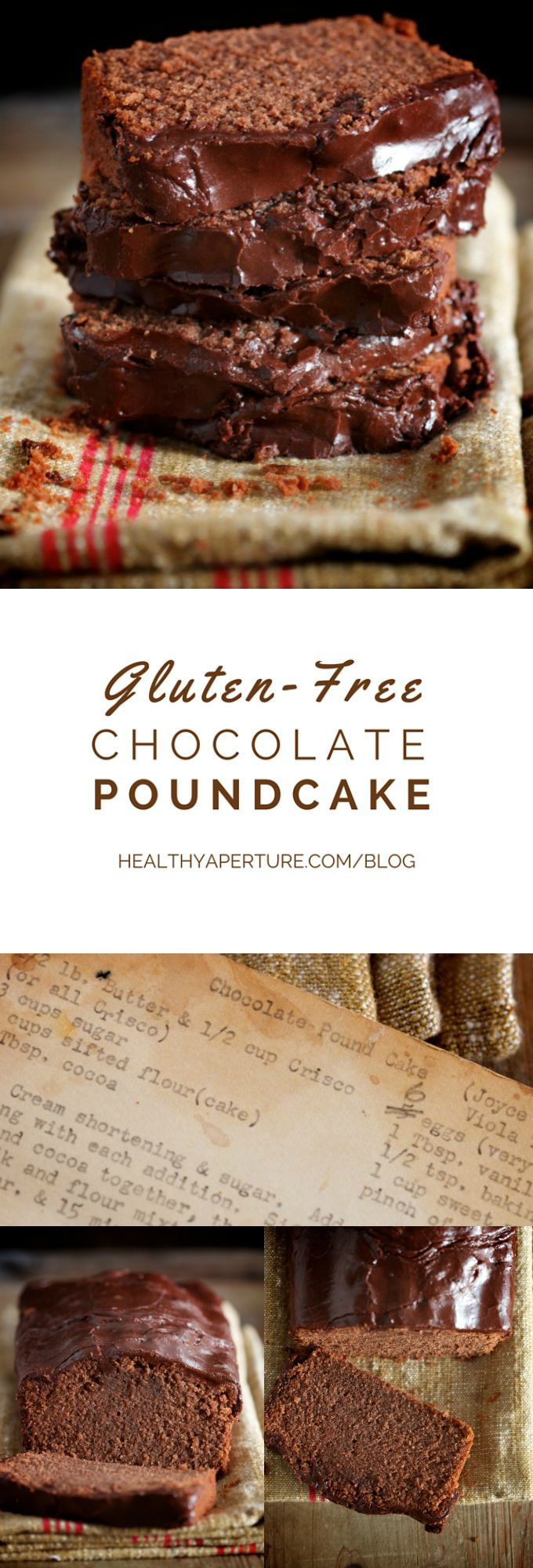 Pound cake gets a gluten free makeover with this Gluten-Free Chocolate Pound Cake recipe.