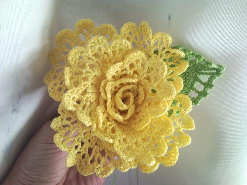 Flor de crochet - Imagui