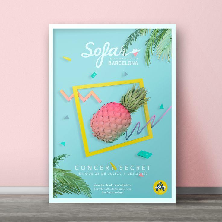 Poster para Sofarsounds Barcelona #poster #90s #design #bakoom #sofar #sofarsounds