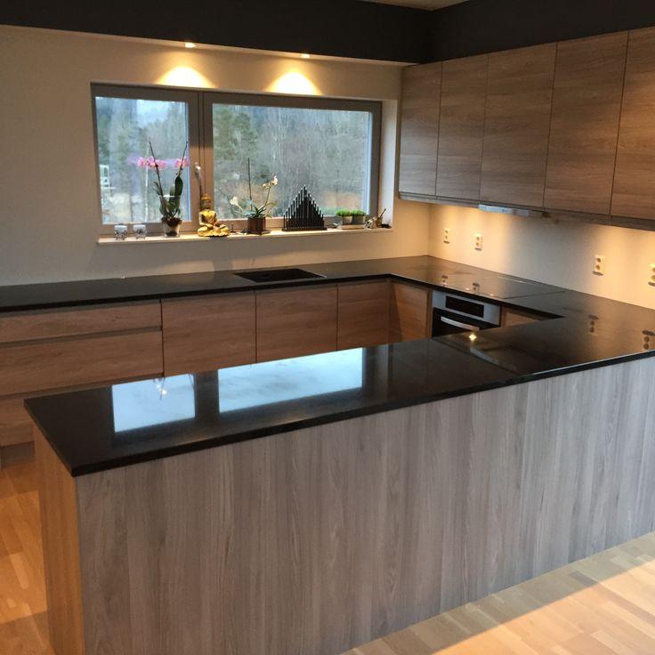 Moderne Kjøkken inspirasjon | Granitt Benkeplate | Nero Assoluto - Modern Kitchen ideas | Design | Granite Countertop | Nero Assoluto