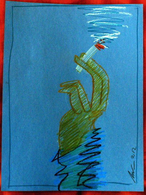 Grafica y Dibujo: fumando espero