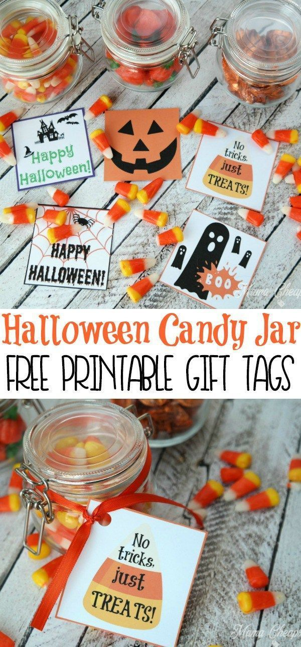 Free Printable Halloween Gift Tags For Candy Treats Kids Fun Activities And Snacks For Toddlers Pinterest Halloween Gifts Halloween And Gifts