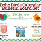Boho Birds Calendar Bulletin Board Set. Includes days of the week and months; Today is, Yesterday was, Tomorrow will be; Days Remaining and Days Pa...