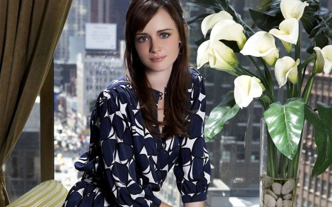 Alexis Bledel in Blue Top HD Wallpapers