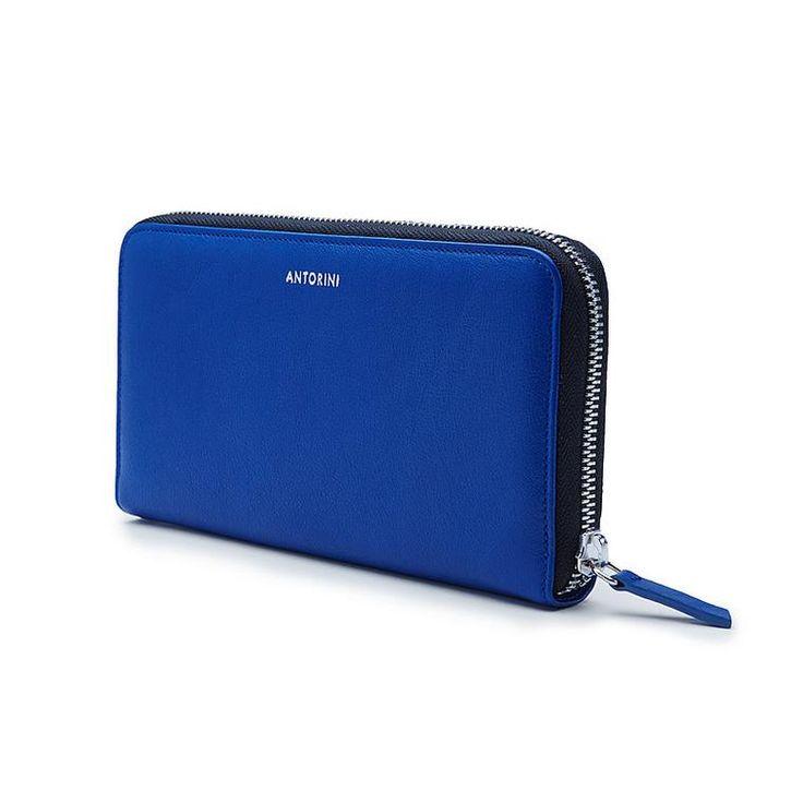 Luxurious Ladies ANTORINI City Wallet in Blue
