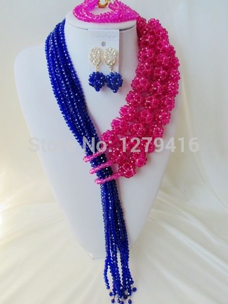 Хиты 2014 продажа ювелирных изделий комплект ювелирных модные свадебные бусины в нигерии африка невесты костюм кристалл ожерелье браслет Aa651