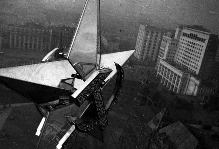 Вид с Никольской башни Кремля, 1935 год