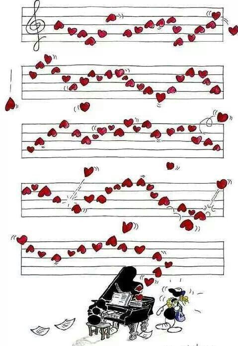 La musique m'enchante, l'amour m'envahit...