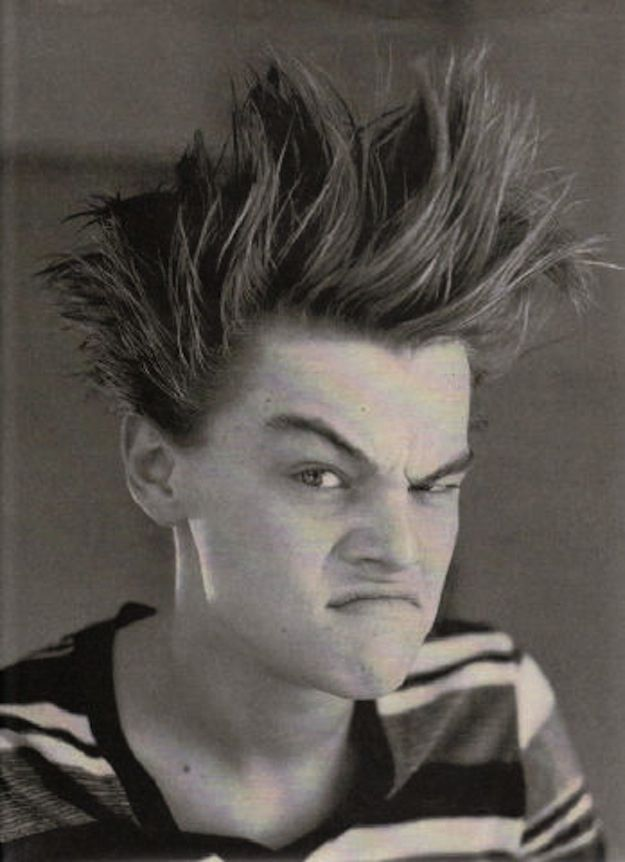 """Leonardo Dicaprio  """"Photographer: """"Who's Beavis? I don't see the resemblance.""""  oh buzzfeed you so funny"""