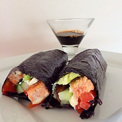 Ripped Recipes - Riceless Sushi - Low carb very yummy sushi made in 5 min at home.