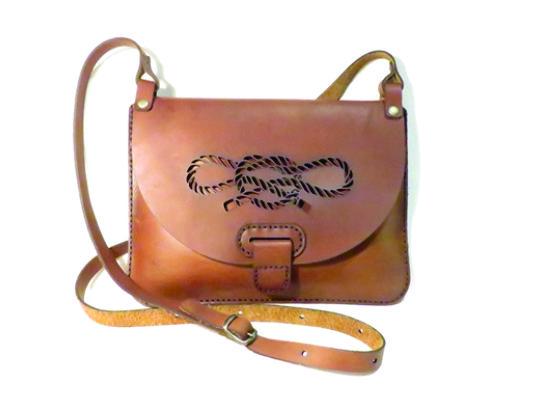 ROPE #2 25cm X 18cm CROSSBODY CLUTCH BAG Genuine leather, Laser cut, Hand stitched