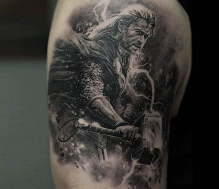 Thor tattoo by Dmitriy Samohin