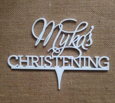 Christening cake topper Christening cake topper by CommunicakeIt, $55.00