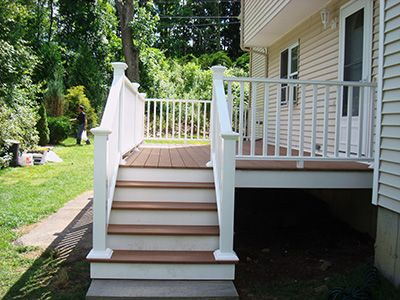 Small Trex Porches Massachusetts Composite Deck Photo