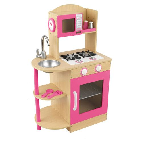 1000 images about wooden kitchens for children on for Kitchen set pink