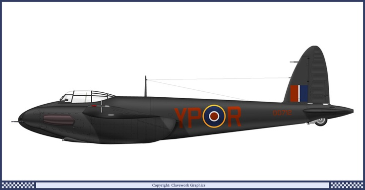 DD712 DH Mosquito NF Mk. II, 23 Squadron  RAF 1942. by Clavework Graphics