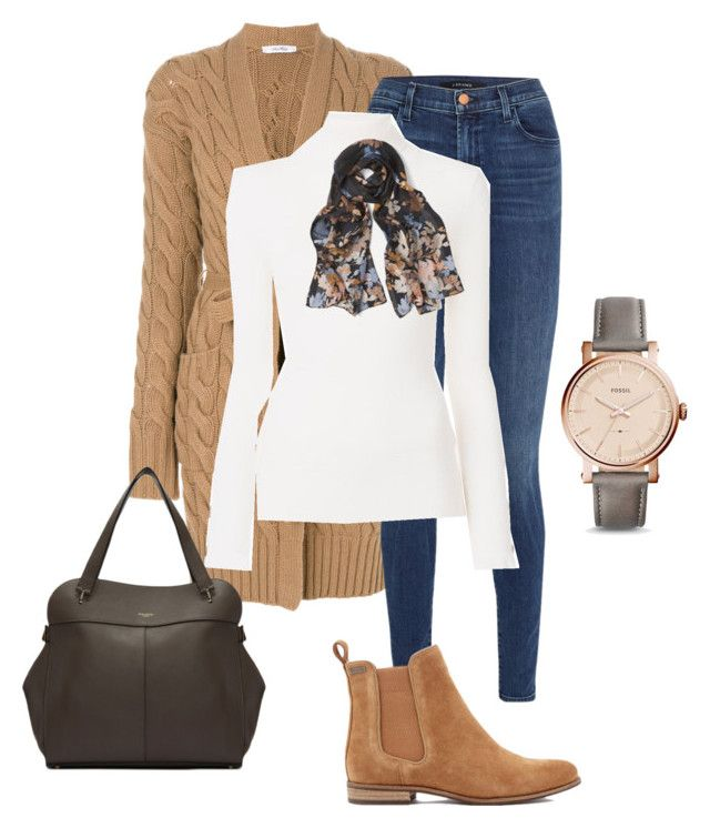 """""""Untitled#167"""" by bidlekerika on Polyvore featuring MaxMara, J Brand, Superdry, See by Chloé, White House Black Market, Nina Ricci and FOSSIL"""
