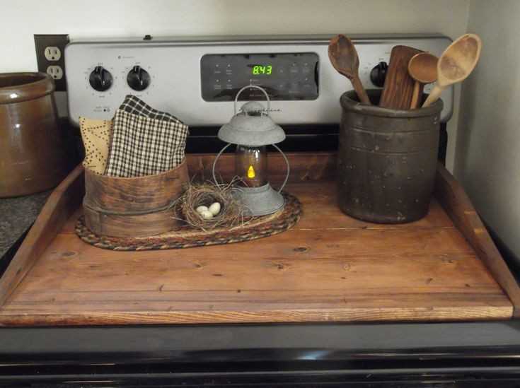 Stove Board / Bread Board distressed and stained.  Exclusive from *The Farm*. (217) 742-5050.