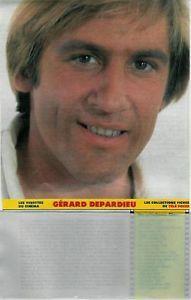 Gérard Depardieu / 1983 / Fiche / 1p. / Coupure de Presse mise en vente par Presse-Mémoire