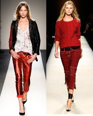 Red Bottoms first showed up on Designer Lines S11 shown Sept 10 by Balmain SS11, Isabel Marant SS11