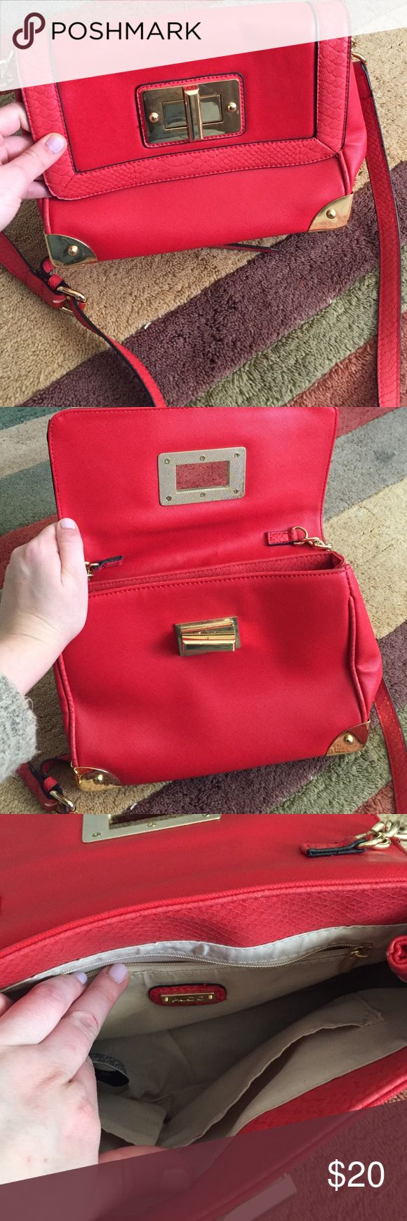 Aldo purse Red ALDO purse that is used but in great condition ! ALDO Bags Shoulder Bags