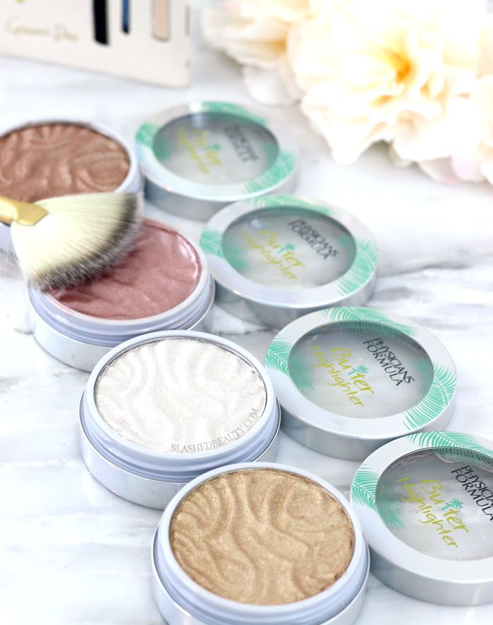 See swatches of the new Physicians Formula Butter Highlighters, and why they're a must have for fall and winter! | Slashed Beauty
