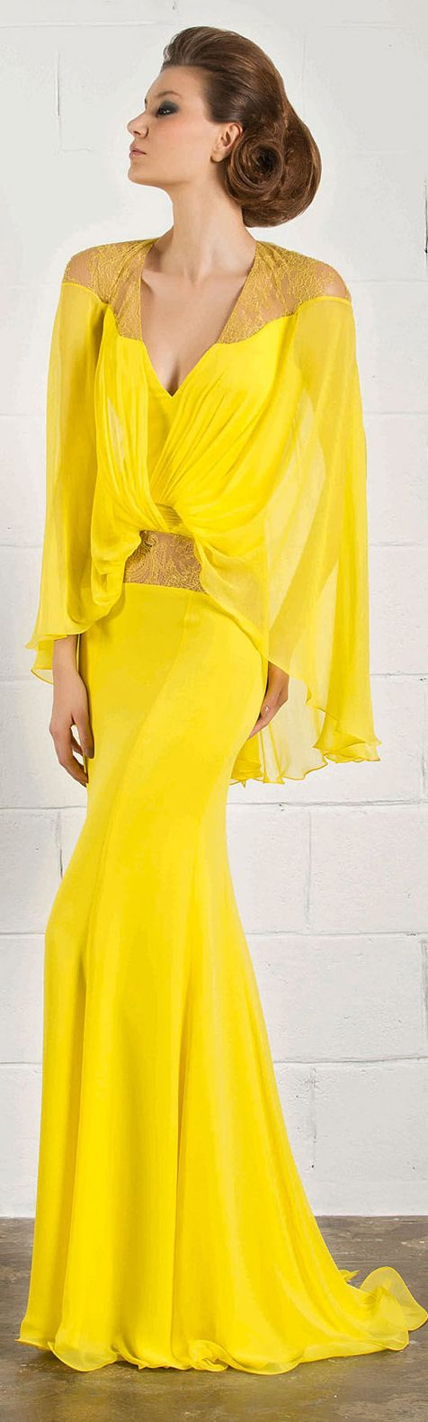 RANI ZAKHEM #yellow #dress