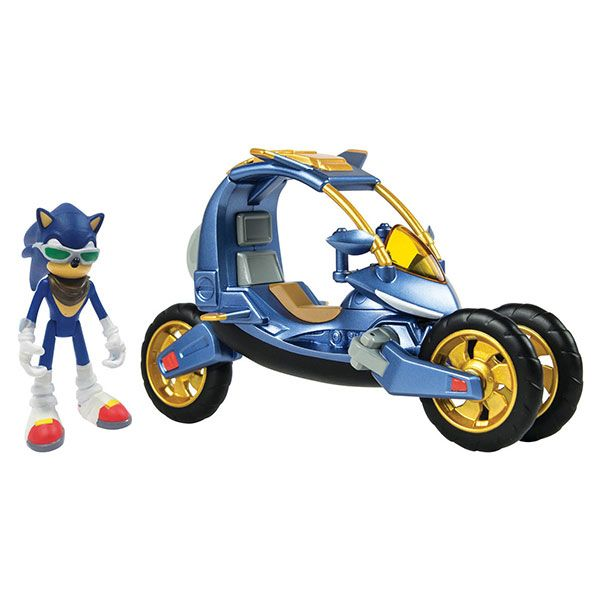 "Sonic Blue Force One Transforming Bike Figure  Sonic and his friends live on Seaside Island in Hedgehog Village, and together they defend their home from evils such as mad scientist Dr. Ivo ""Eggman"" Robotnik by any means necessary.   via @AnotherUniverse.com  https://anotheruniverse.com/sonic-blue-force-one-transforming-bike-figure"